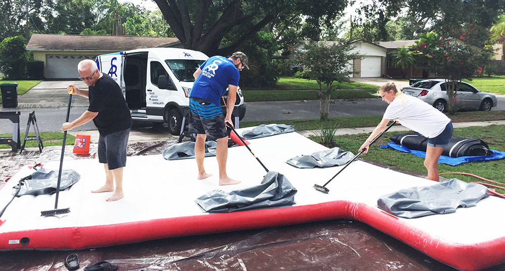 inflatable paddle board repair