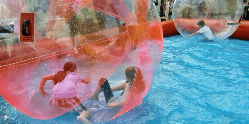 waterball pool at United States
